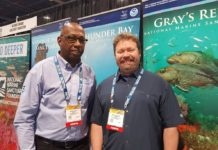 Vernon Smith Jr. and Tane R. Casserley from the NOAA Office of Marine Sanctuaries