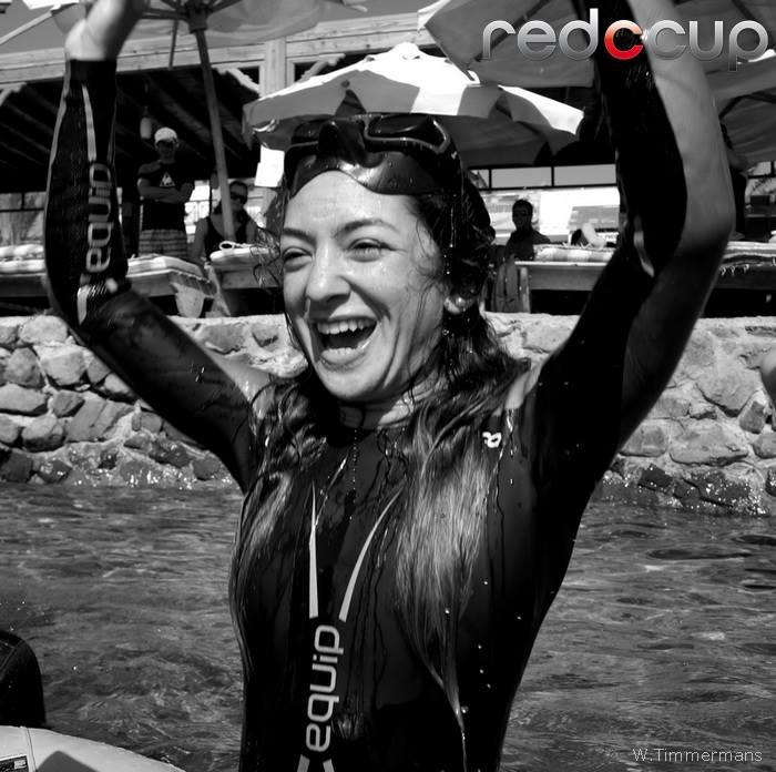 Raghda Ezzeldin celebrates a new STA record for Egypt. Photo by Wendy Timmermans.
