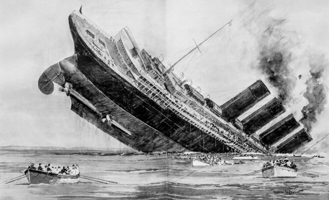 Lusitania Lifeboats London Illus News-reshoot