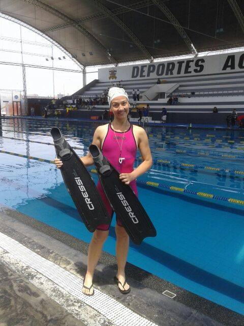 Freediver Ludmila Brzozowski Sets Argentine National DYN Record