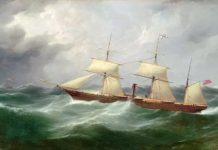S.S. Australian 1862. painted by Walters, Samuel, 1811-1882. oil on canvas ; 71.3 x 107.7 cm. National Library of Australia. This is one of three identical sister ships of SS Andes