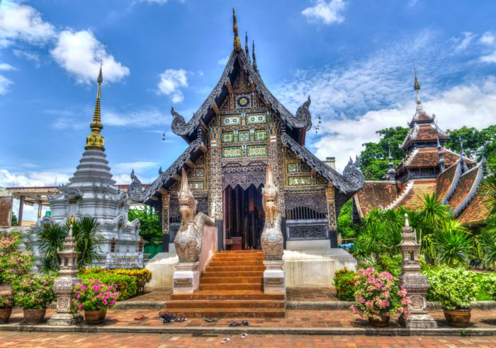 This is one of the many Buddhist temples that you'll find throughout Thailand