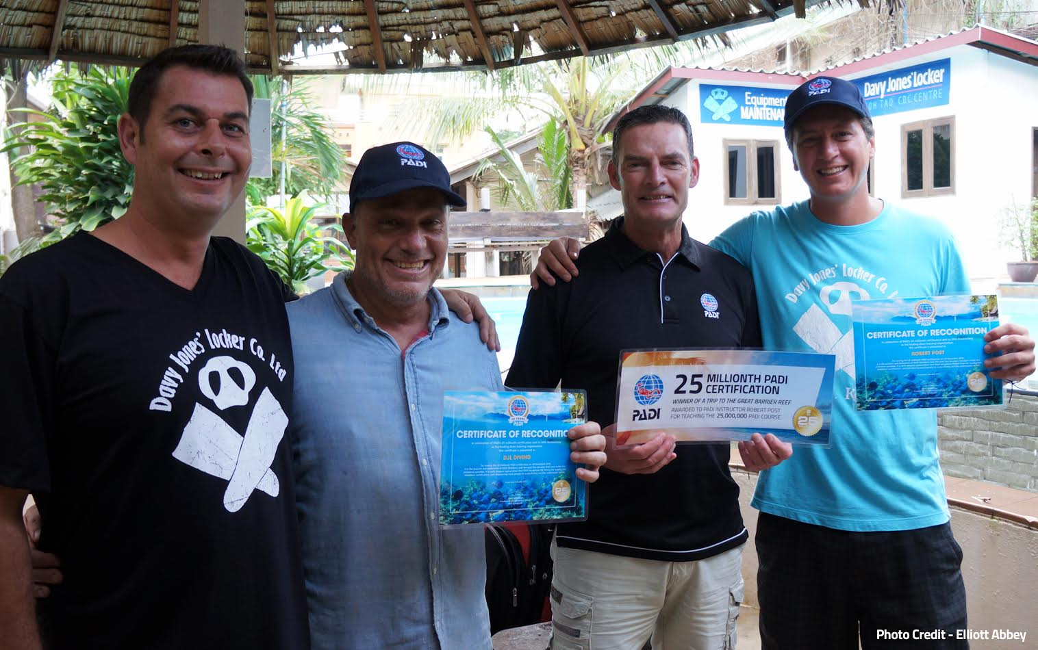 Master Scuba Diver Trainer Bobby Post certified the 25 millionth PADI Open Water Diver.