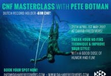 NO-FINS MASTERCLASS WITH PETE BOTMAN COMING SOON AT DAHAB FREEDIVERS