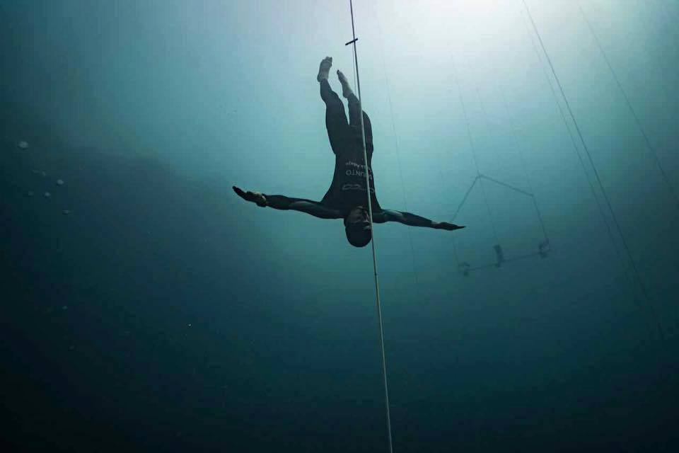 Dean Chaouche, member of the 2017 British Freediving Team