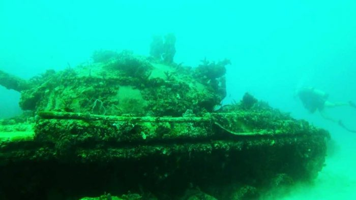 Miami M60 Army Tanks Underwater