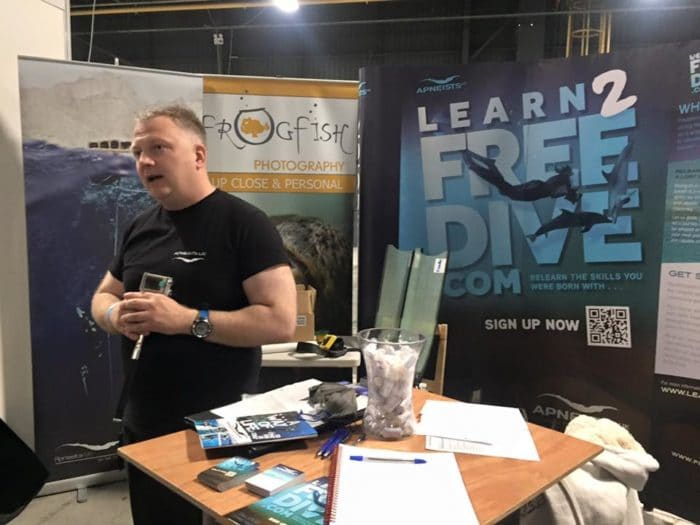 Freediving at the Great Northern Dive Show