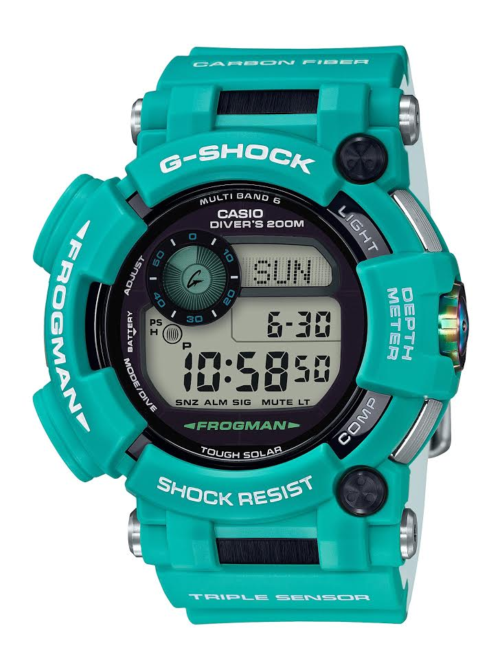 Casio G-SHOCK's New, Limited-Edition Tuquoise Frogman Dive Watch