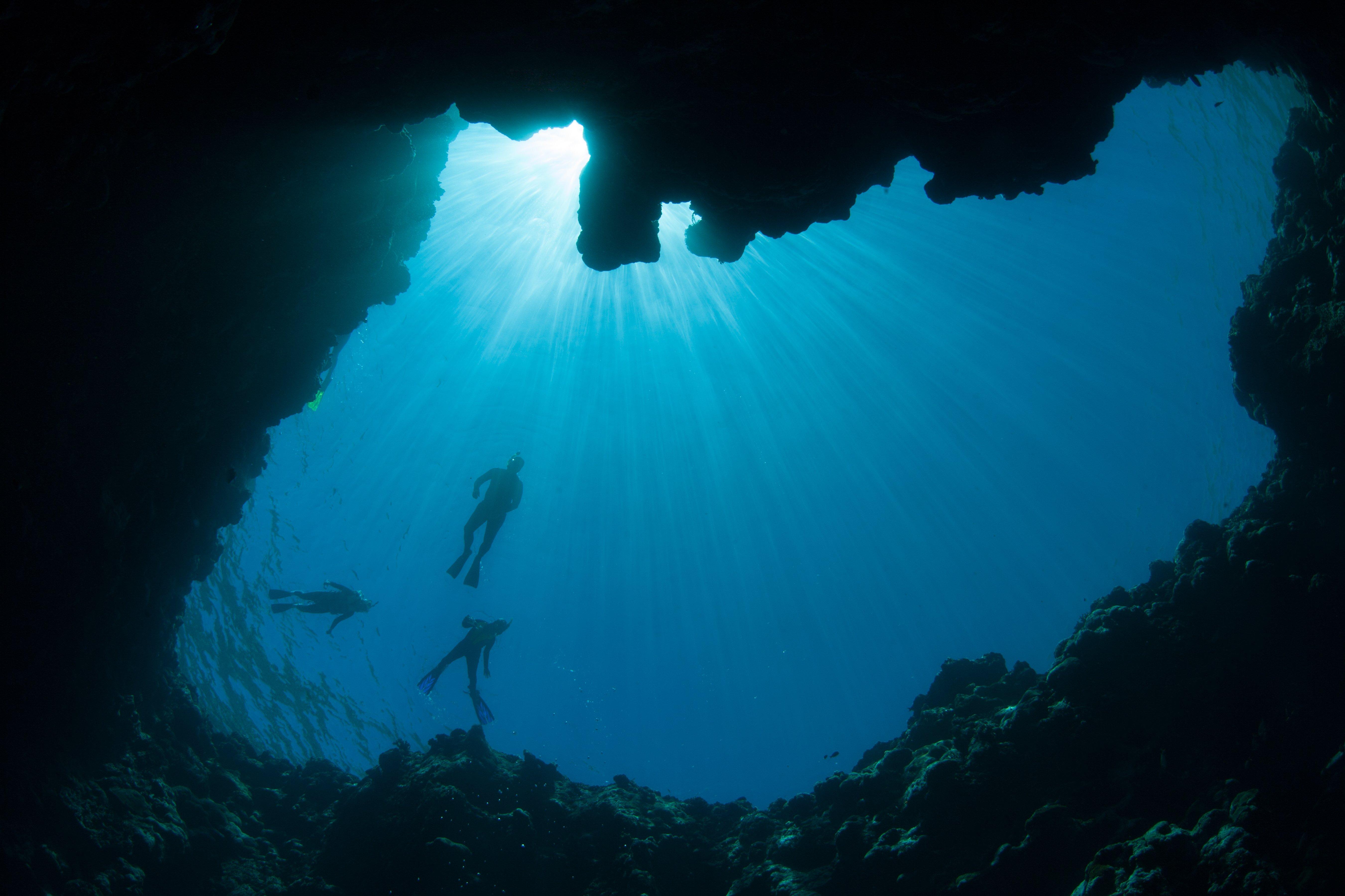 Blue Hole Underwater
