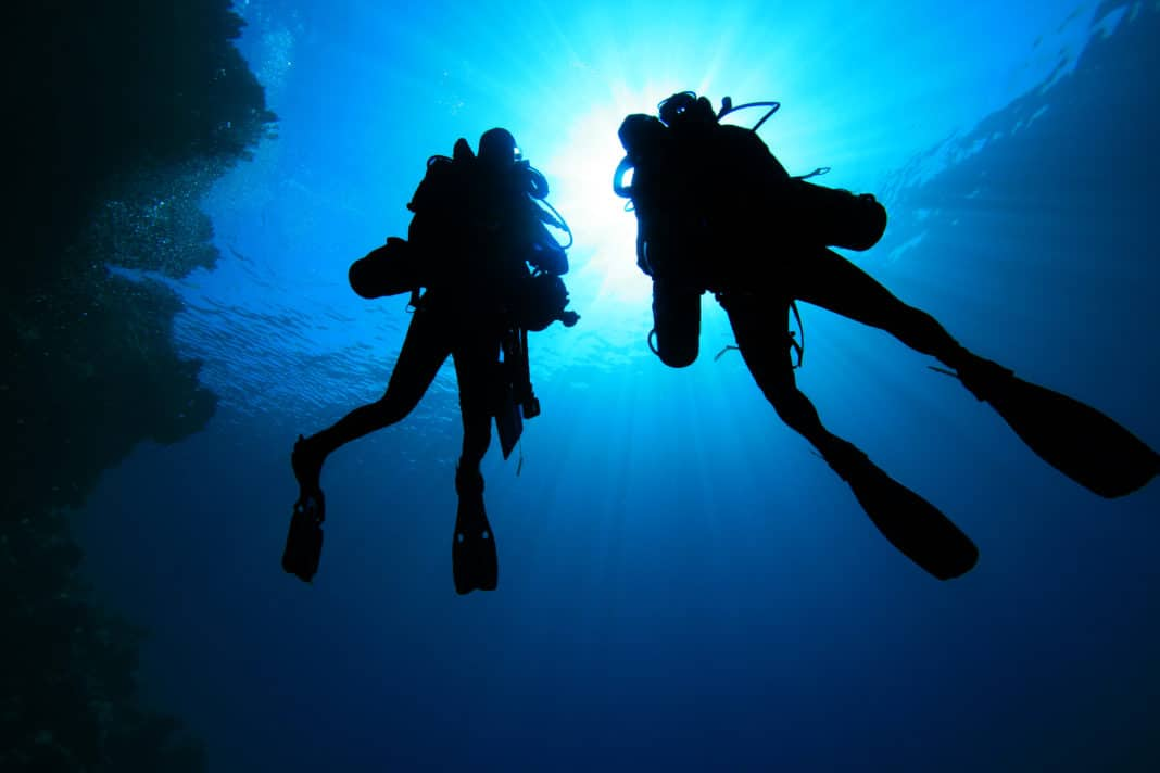 Two Technical Divers silhouette