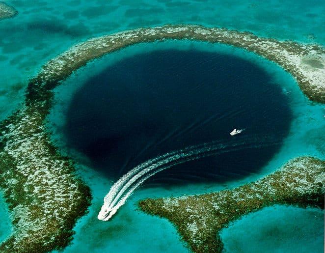 Great Blue Hole Belize Photograph By U.S. Geological Survey (USGS) [Public domain]