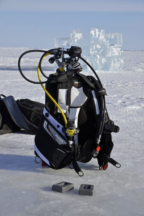 """The Kaila"" - The Mares / SSI / rEvo Dive Expedition Team also took a Kaila and Dragon model with them to test in the waters of Lake Baikal, Siberia and were happy to see they performed extremely well, even in these cold conditions."