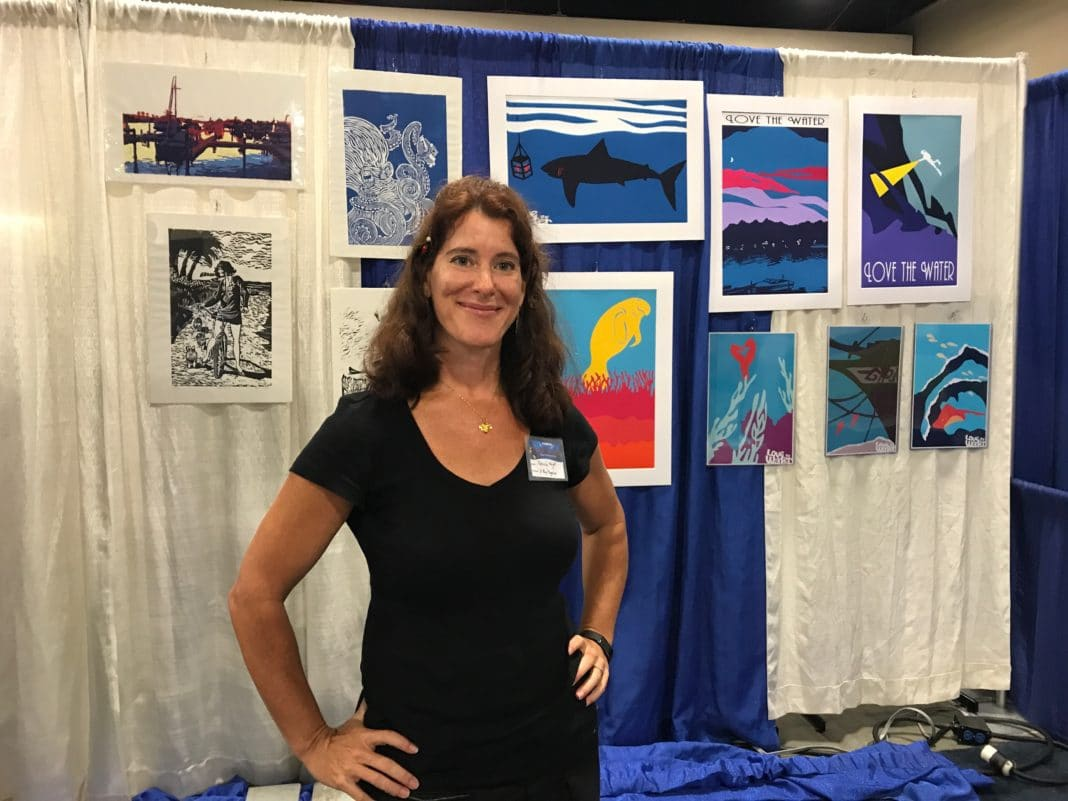 Marine Artist Patricia Knight At 2017 Blue Wild Expo