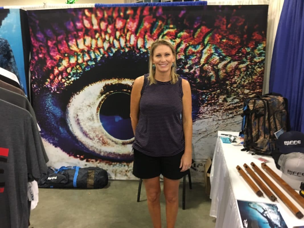 Riffe's Jill Salerno at the Blue Wild Expo