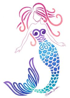 Mermaid by Heather Schaefer at ArtsyTooCreations.com