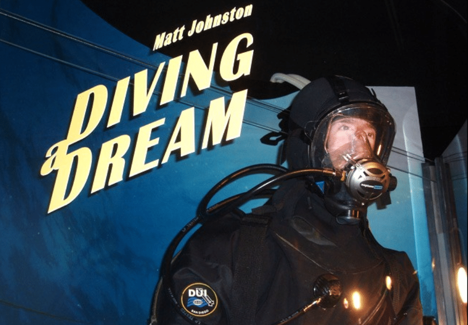 Quadriplegic, Ventilator-Dependent Scuba Diver Matt Johnston Visited The History of Diving Museum