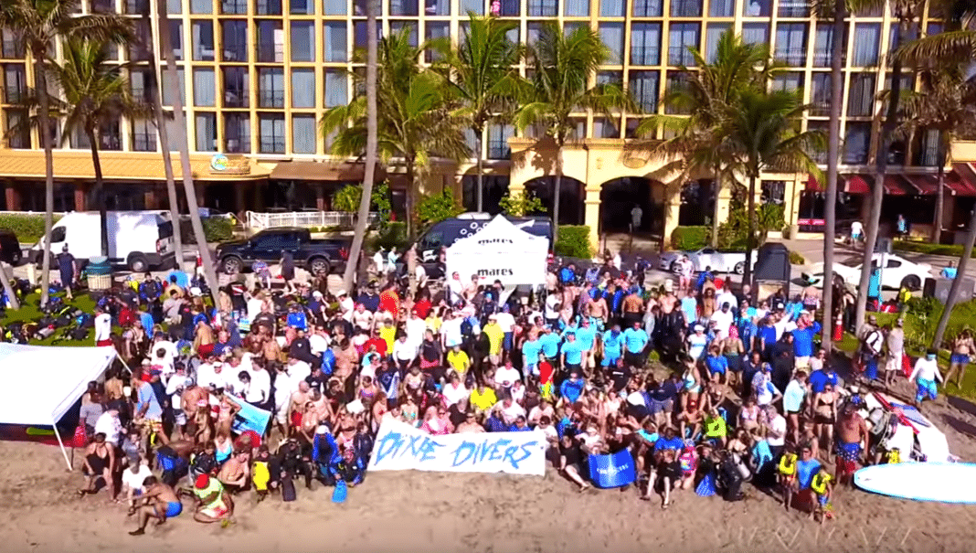 Florida Divers Set New Guinness World Record For Longest Underwater Human Chain (Photo credit: US Aerial Services)