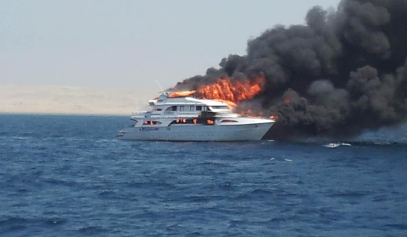 Liveaboard Catches Fire Off Egyptian Coast (Photo credit: Ben Lowe)