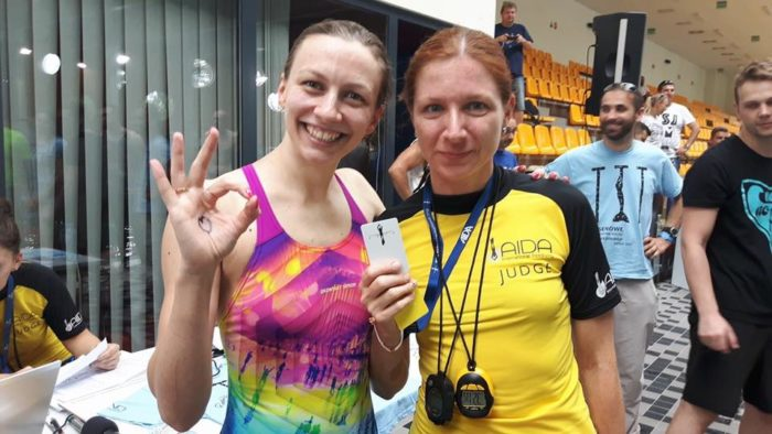 Magdalena Solich-Talanda With judge Jana Oujezdská
