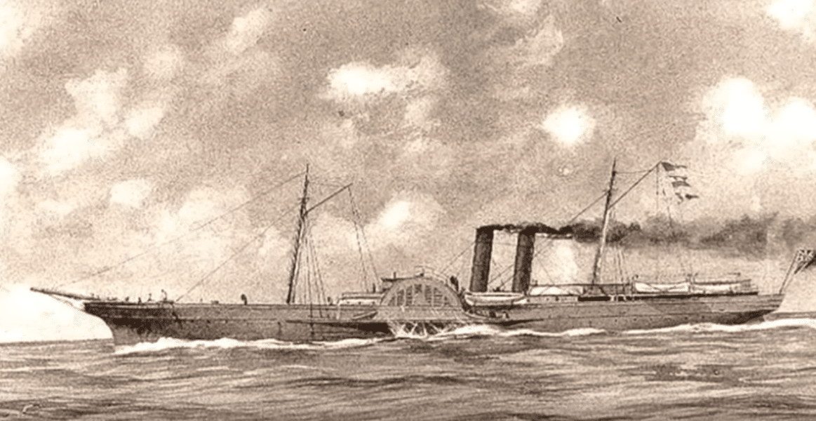 Civil War Confederate blockade runner