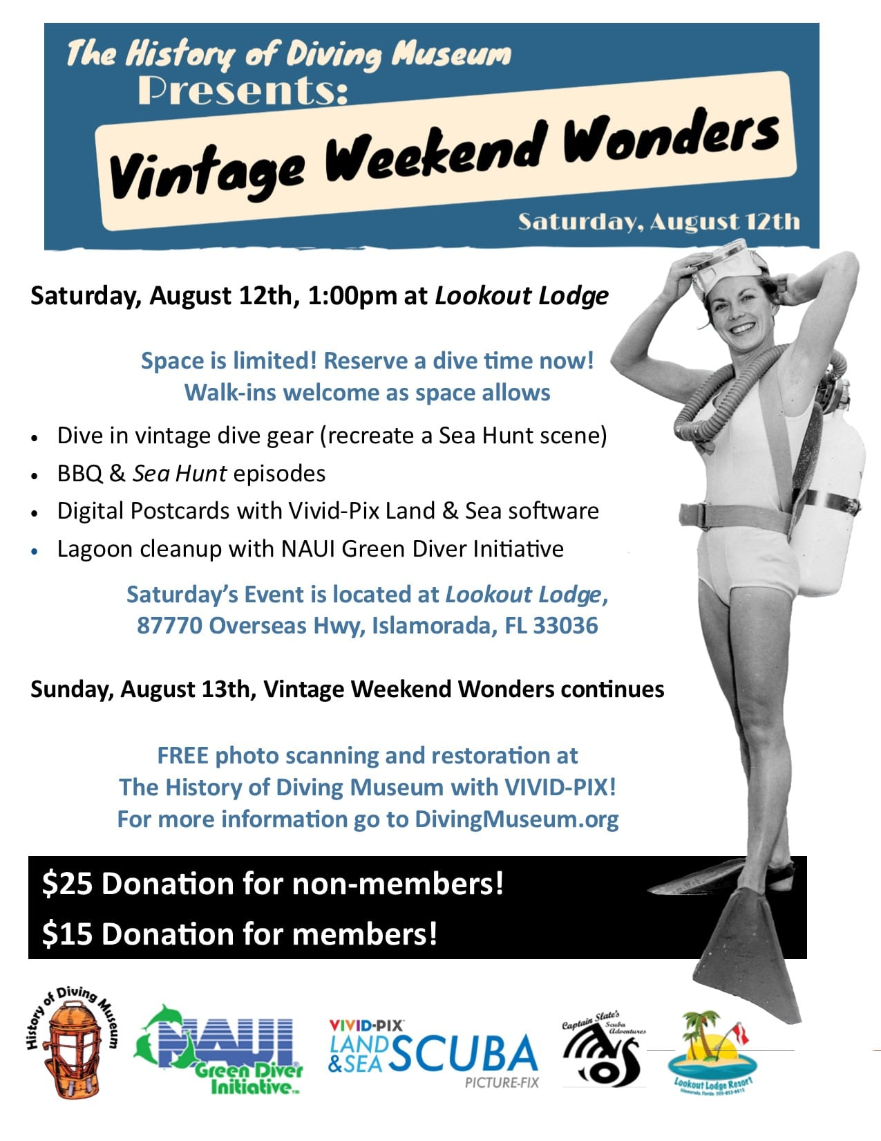 NAUI To Sponsor History Of Diving Museum 'Vintage Weekend Wonders' Event