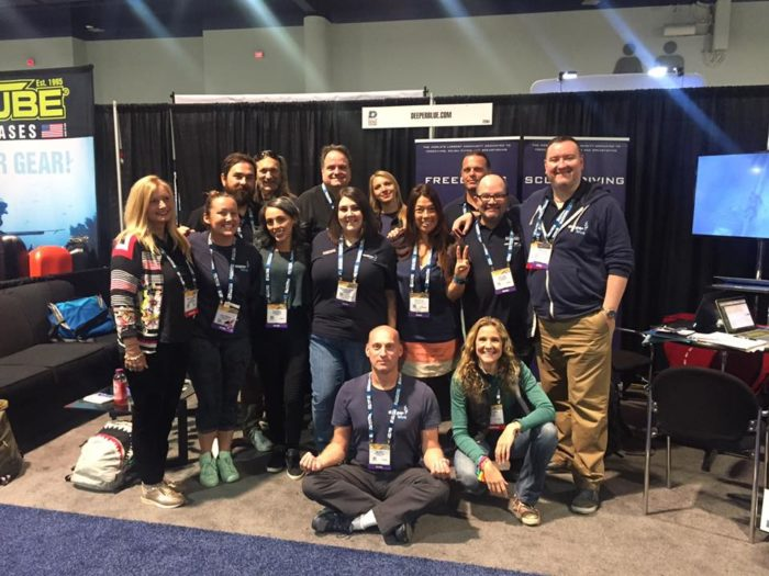 The DeeperBlue.com Team at DEMA 2016