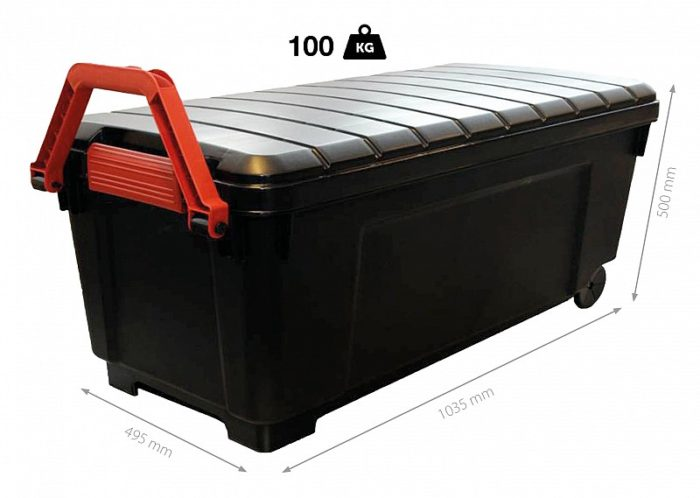 Charmant Solent Plastics Extra Long 170 Litre Wheeled Storage Trunk