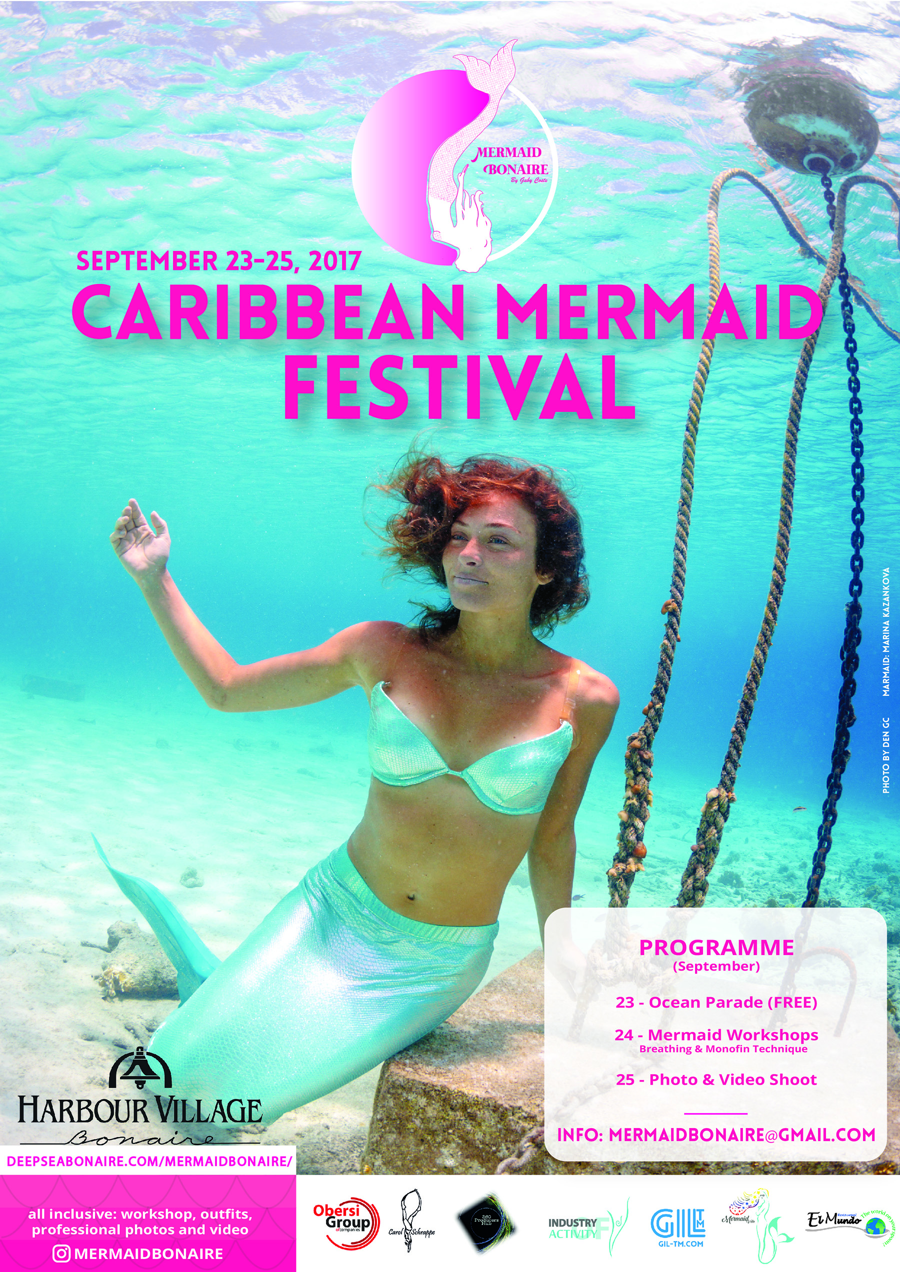 A Caribbean Mermaid Festival will take place September 24th - 25th in Bonaire.