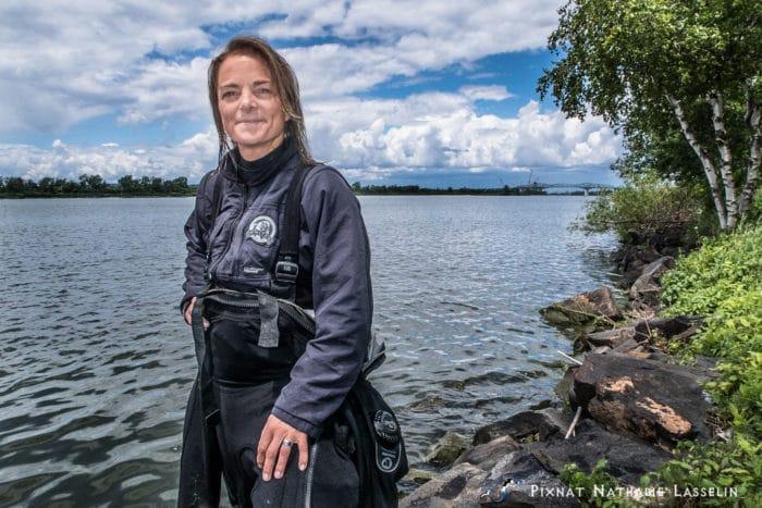Underwater Filmmaker Nathalie Lasselin Dives Half-Marathon In St. Lawrence River ? DeeperBlue.com