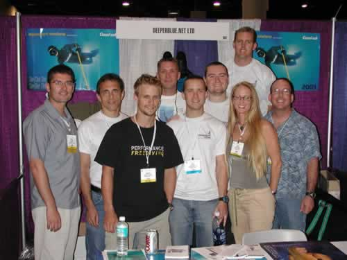 The DeeperBlue.net (as it was then) booth at DEMA 2003