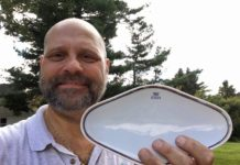 Richie Kohler with the china from the Andrea Doria