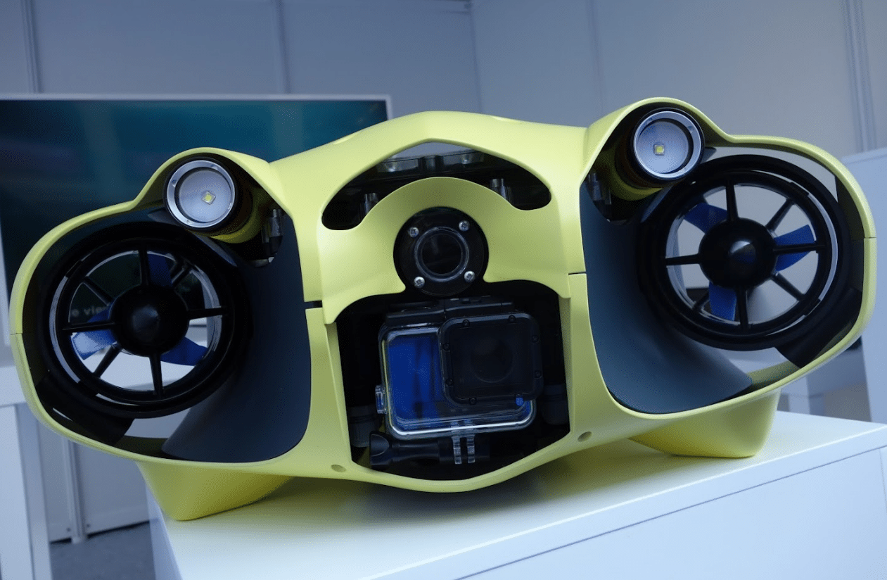 A new design for the iBubble autonomous underwater camera drone has been unveiled.