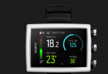 Suunto EON Core White dive computer with color screen and big numbers