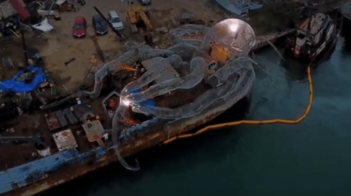 Wreck Sunken in BVI with 80ft Kraken on board