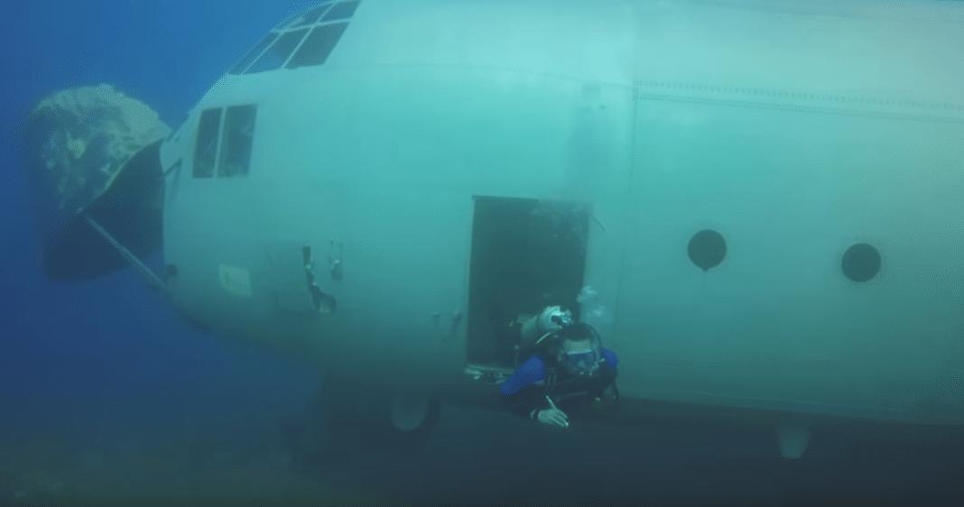 C-130 Sunk As An Artificial Reef Off Aqaba
