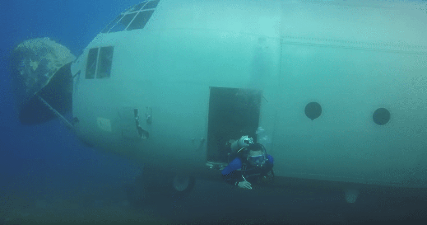 C-130 Sunk As An Artificial Reef Off Aqaba