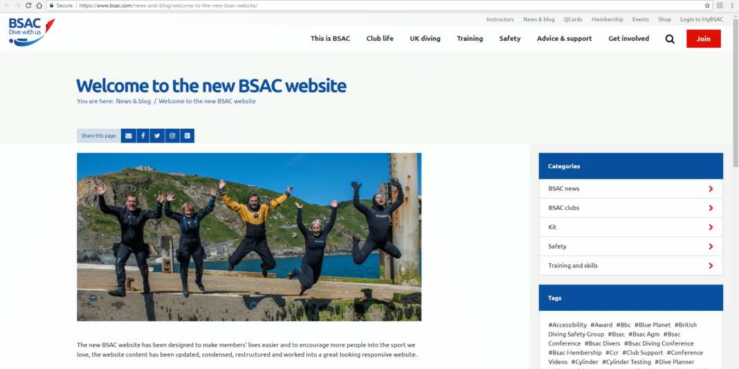 BSAC Introduces Its New, Revamped Website