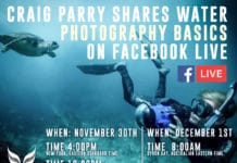 Underwater Photographer Craig Parry To Host Facebook Live Event
