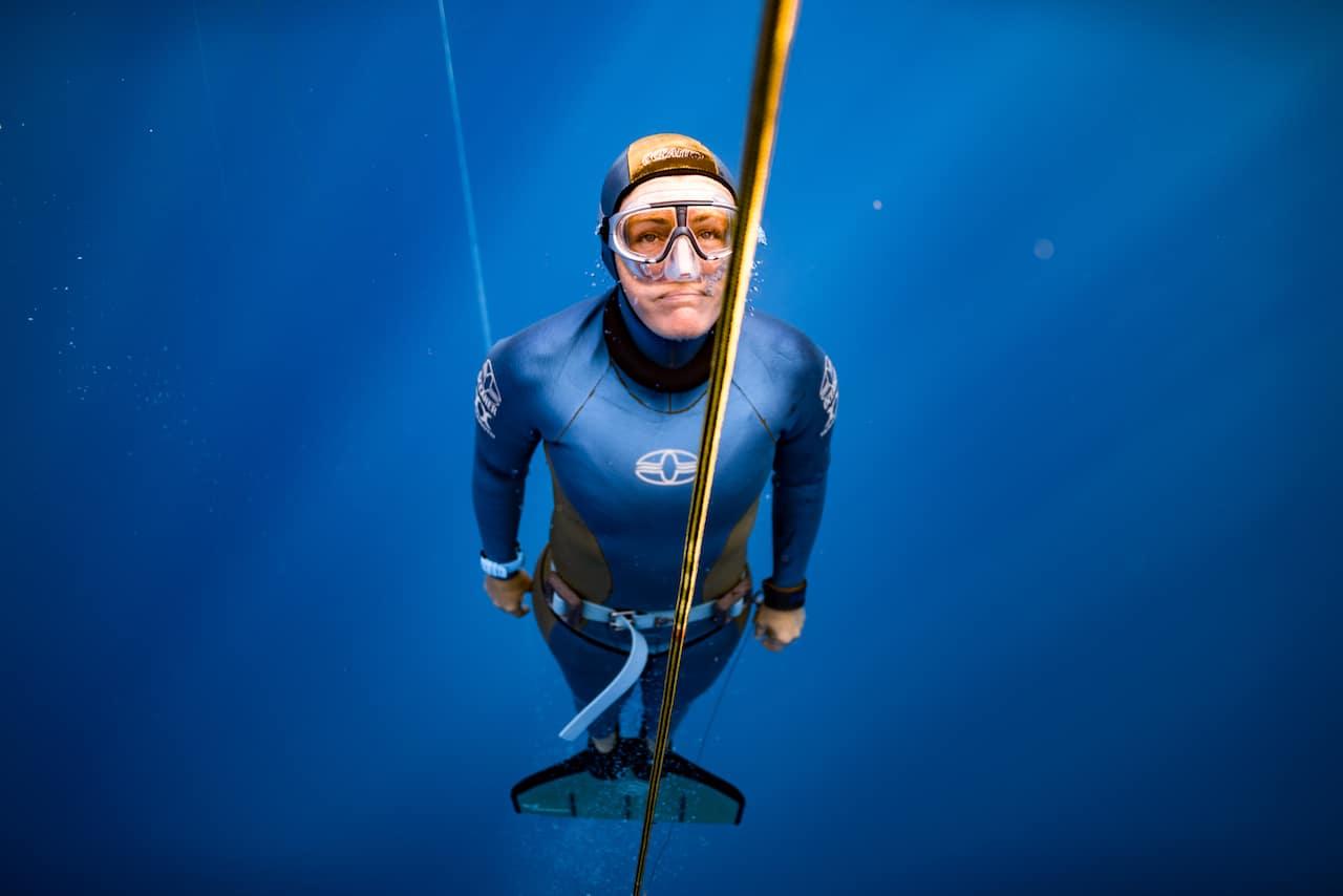 UK National Freediving Champion Georgina Miller (photo credit: Daan Verhoeven)