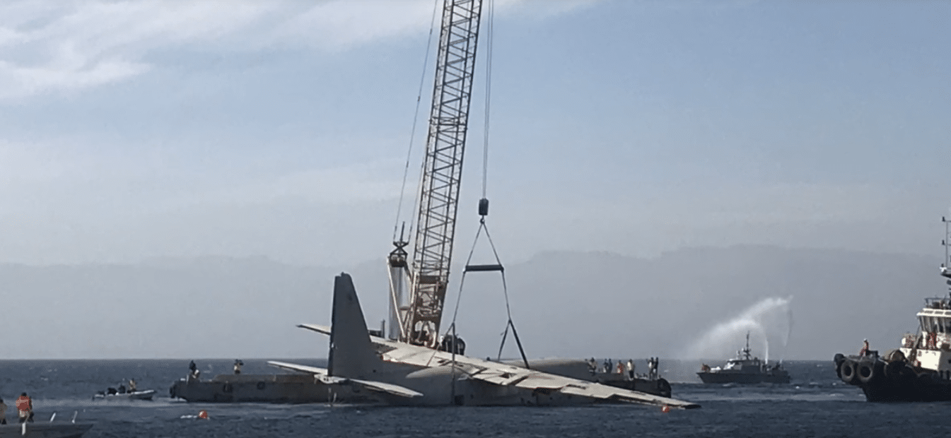 C130 Hercules sunk as an artificial reef of the coast of Aqaba