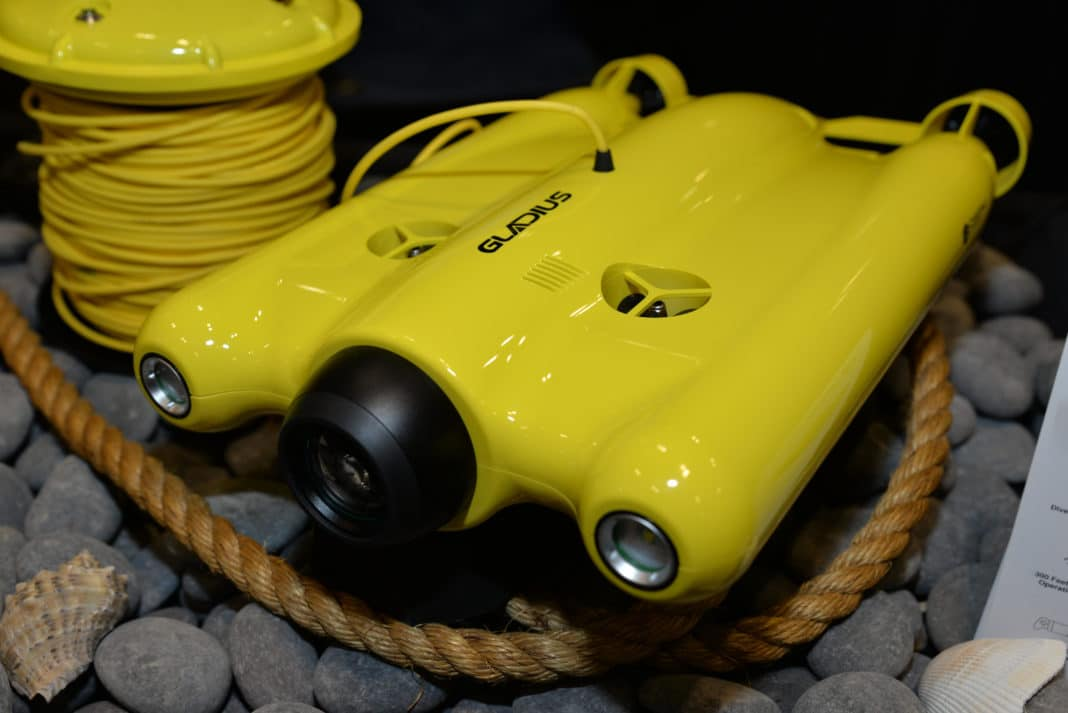 The Gladius submersible drone is the latest product from Chasing-Innovation Technology, and was introduced at this year's DEMA Show.