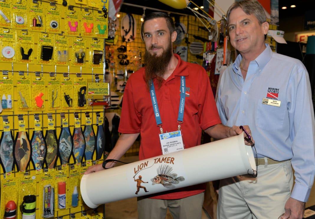 Marine Sports Mfg Showcases New 'Lion Tamer' Lionfish Containment Tube