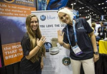 Alex Rose and Jillian Morris showing their commitment to the ocean