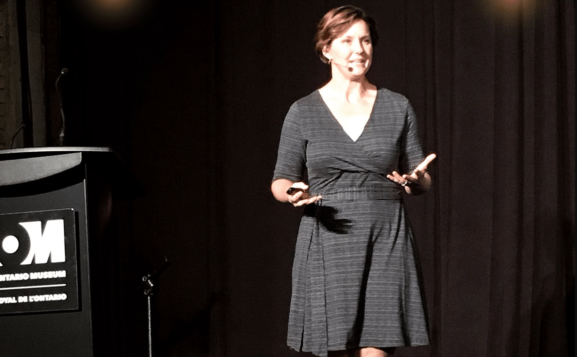 Freediver Mandy-Rae Krack Delivers Keynote Speech At Royal Ontario Museum