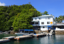 The dive center of Sam's Tours in Palau