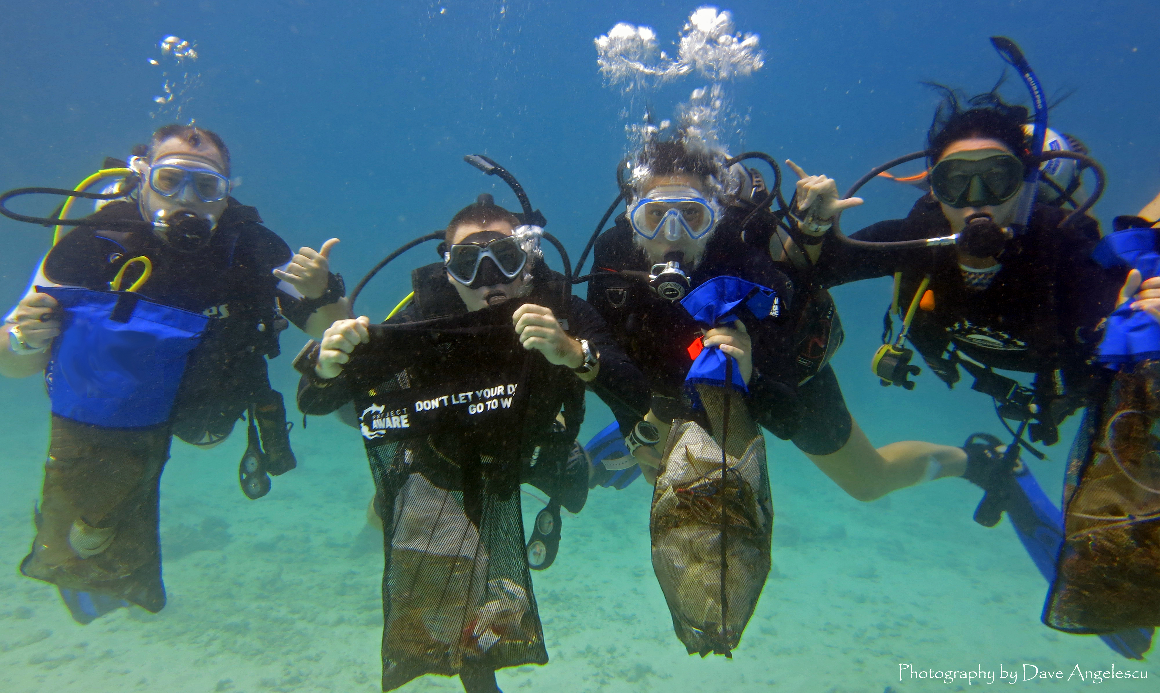 A successful diving instructor cares about the environment