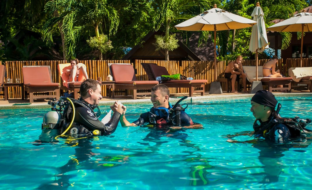 A successful diving instructor has a positive attitude