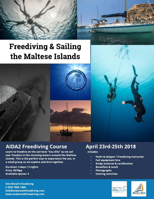 New Liveaboard Freediving Trips Off Malta Announced