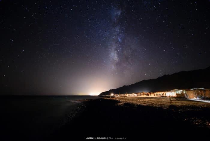Ras Abu Galoum at night