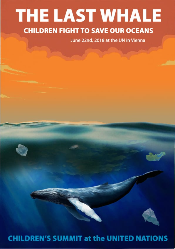 Poster for Kids Save Ocean campaign
